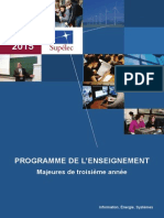 3campus ProgrammeMajeures 3A 2014-2015