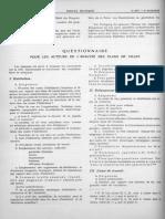 15 f - 16 f - 17 f - Questionnaire Pour Les Auteurs de l'Analyse Des Plans de Villes - Constatations - Resolution