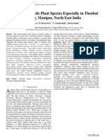 A Study of Aromatic Plant Species Especially in Thoubal  District, Manipur, North East India