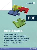 GCSE Religious Studies Spec 2012