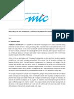 Media Release - MTC Introduces Customer Friendly Data Charging - 12 Dec 2014
