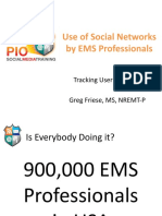 EMS Professional Use of Social Networks Tracking