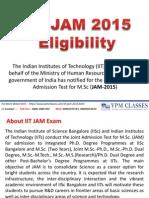 IIT JAM Exam Eligibility_Paper Pattern_Exam Date