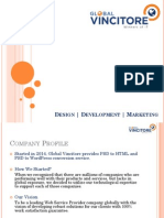 Convert PSD to Responsive HTML, PSD to Word press, PHP Website Development, PSD to Email Newsletter, SEO Company | Global Vincitore