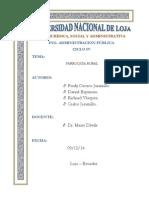 Estructura Orgnica, Funcional de Las Parroquias Rurales segun estipula El Cootad