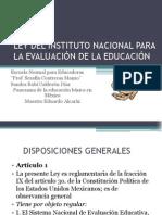 Ley Del Instituto Nacional Para La Evaluación