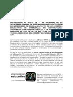 Instrucción Para La Detección de Necesidades TIC en Centros Educativos