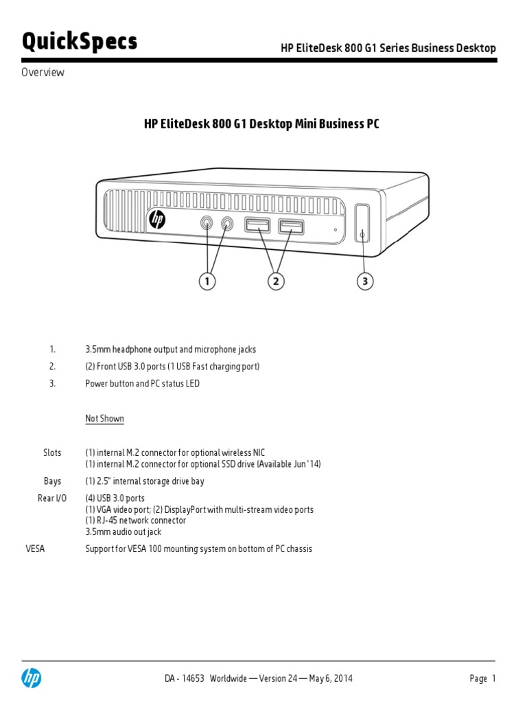 HP ELITE DESKTOP PC MANUAL | Personal Computers | Windows 7