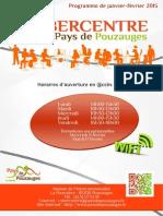 Programme des ateliers de janvier et février 2015 au Cybercentre du Pays de Pouzauges