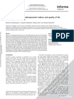 Association Between Anthropometric Indices and Quality of Life
