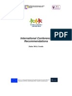 International Cenference Recommendations