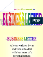 how to format a letter