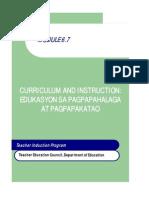 Module for Grade 7 Values Education