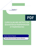 Module for Grade 7 Values Education