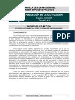UNED - Psicología de la Motivación - Supuesto Práctico 1
