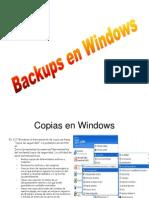 Backups en Windows