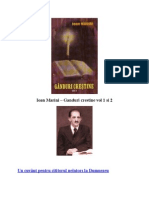 Ioan Marini - Ganduri Crestine - Vol I si II - Sibiu 2003[COLECTAT]