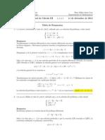 Corrección Final Cálculo III, 10 de diciembre de 2014
