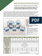 Equipos de Limpieza de Ultrasonido Especificaciones Tecnicas