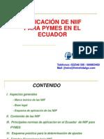 APLICACION NIIF PARA PYMES EN EL ECUADOR