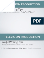 television intros script writing tips revised