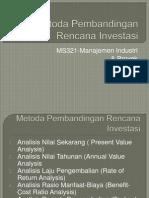 06 - Metoda Pembandingan Rencana Investasi - A