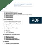 Propuesta Para El Desarrollo Del Programa de La Asignatura de Gerencia y Programación de Proyectos
