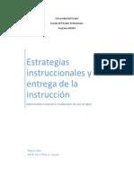 estrategias instruccionales y la entrega de la instruccin