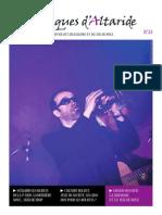 Chroniques d'Altaride n°022 mars 2014 La Musique