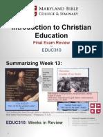 educ310- intro to christian education 14