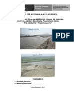 Estudio a Nivel de Perfil Irrigacion Avenidas Valle Medio y Bajo Santa - 01