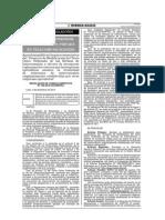 Publicación de Proyecto de modificación de TUO