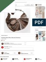 Kootenay Stone Micro Macrame Necklace