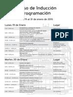 Programación Curso de Inducción 2015