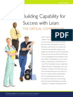 ARTICLE Building Capability for Success With Lean the Critical Competencies