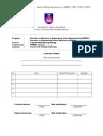 1-MEM661 Lab Report Format, Rubric & Marks (1)
