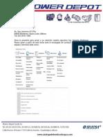 Carta Presentación Power Depot