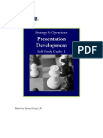 Self Study Guide for Presentation Development