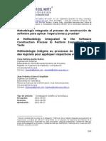 Metodología Integrada Al Proceso de Construcción de Software