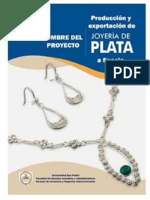 2b97a08276ef Producción y Exportación de Joyas de Plata a Suecia_estudio Tecnico ...