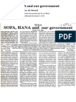 Dr. A. Z. M. Iftikhar-ul-Awwal (1998) 'SOFA, HANA and our government', published in The Independent (Bangladesh), August 17, 1998 (the article was written under pseudonym 'Dr. A. Z. Mia')