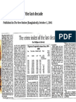 Iftikhar-ul-Awwal (2001) 'The crime index of the last decade', published in The New Nation (Bangladesh), October 1, 2001