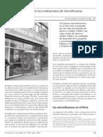 52 Deudas en Las Instituciones de Microfinanzas Del Peru