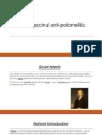 Vaccinul Anti Poliomelitic