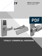 Stanley Commercial Hardware Price Book- 2015
