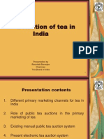 E Auction for Tea- The Indian Experience
