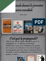 projet - la propagande durant la 1ere guerre mondiale