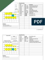 2014 safety schedules