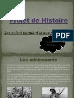 projet de histoire
