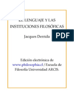 Derrida, Jacques - El Lenguaje y Las Instituciones Filosóficas